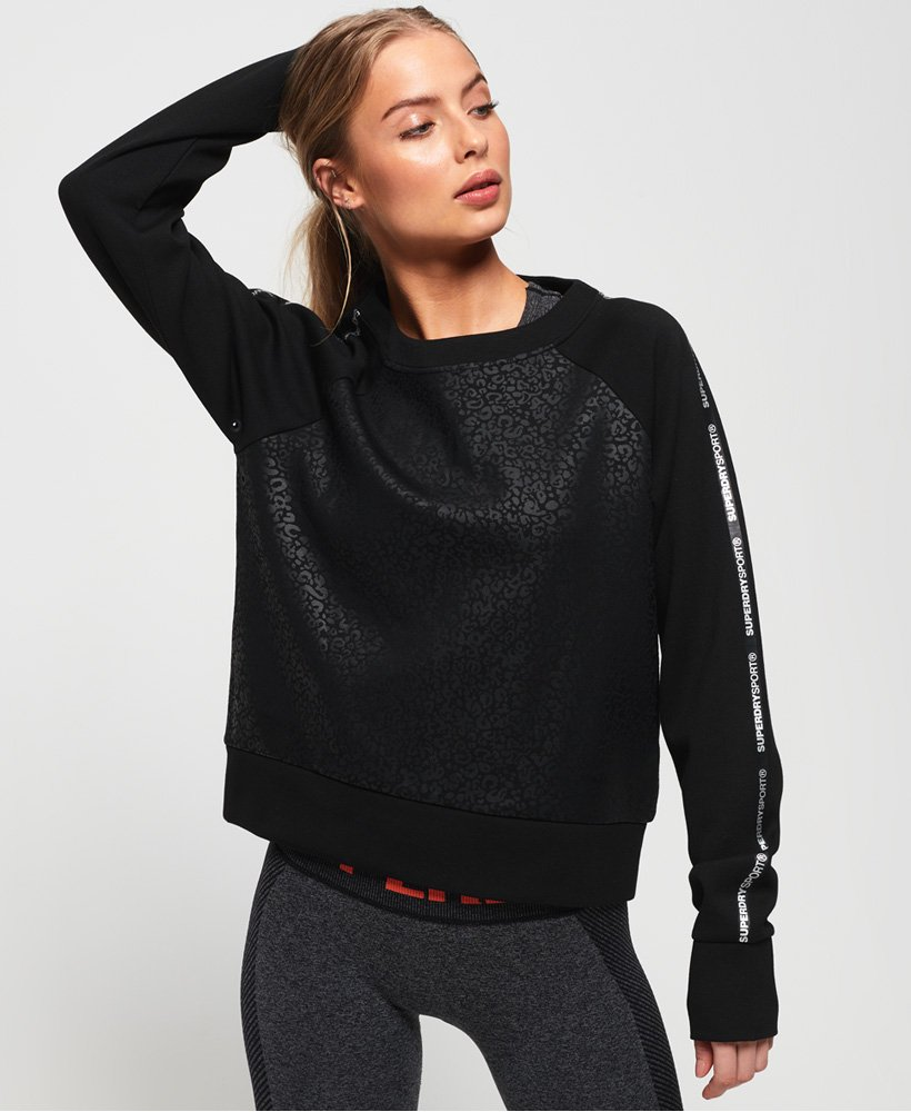Superdry Core Gym Tech Taped Crew Sweatshirt thumbnail 1