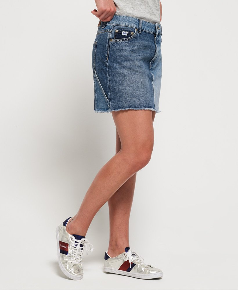 Superdry Denim Micro Mini Skirt thumbnail 1