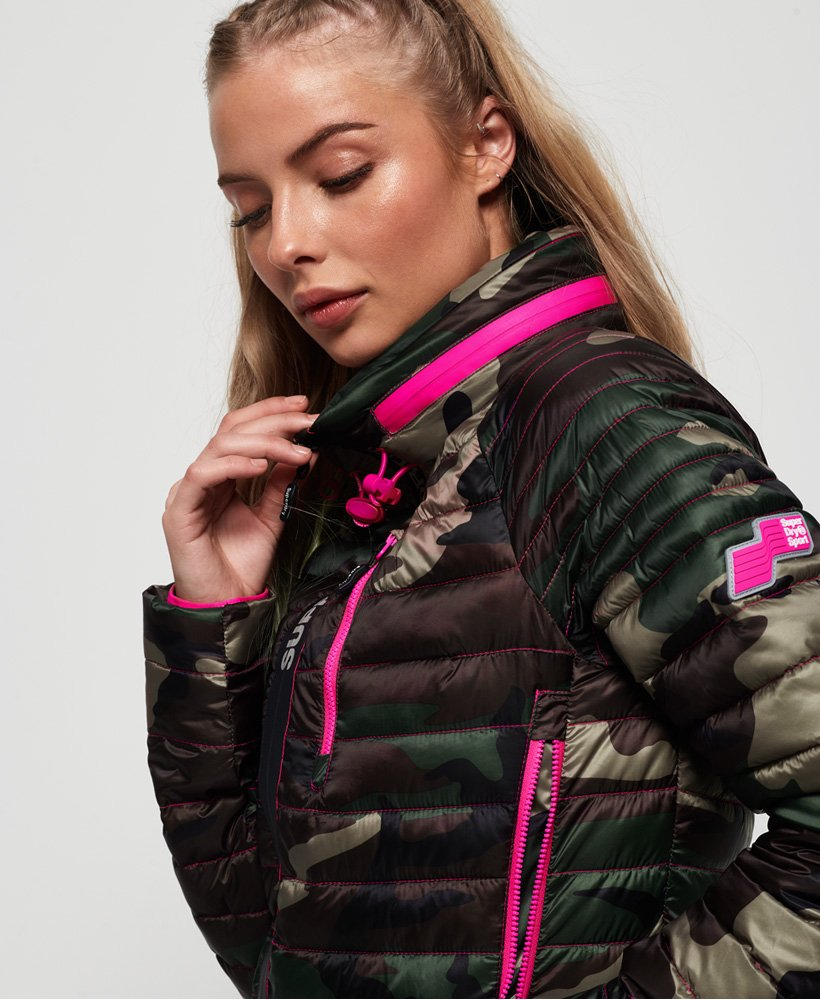 Superdry Power Pop Jacke mit Tarnmuster thumbnail 1