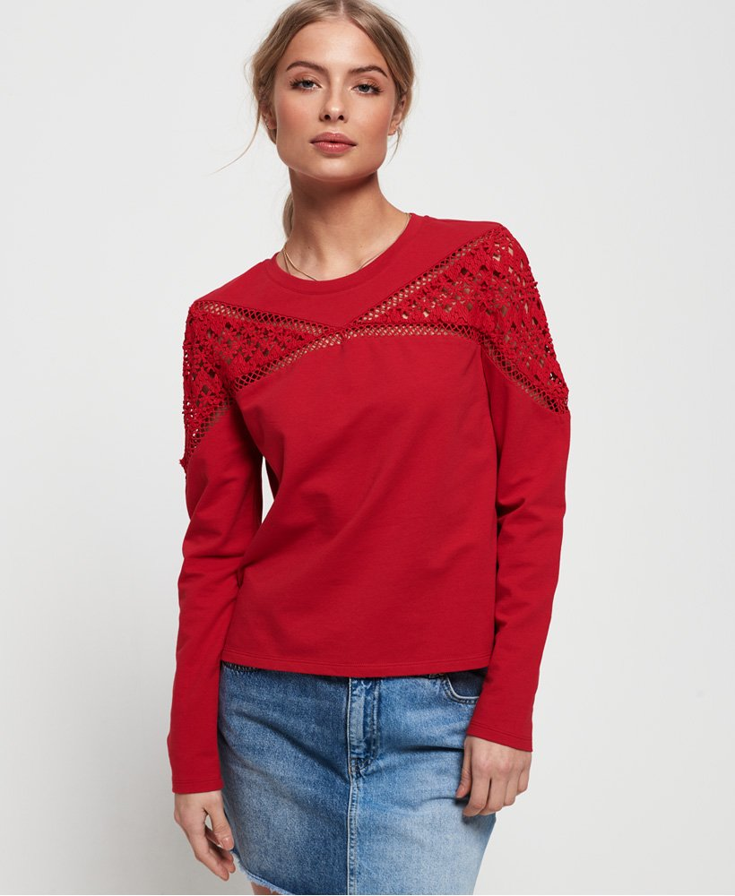 Superdry Zariah Lace Panel Top thumbnail 1