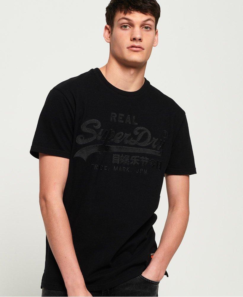 Superdry Camiseta de corte cuadrado con aplicación decorativa y logo vint thumbnail 1