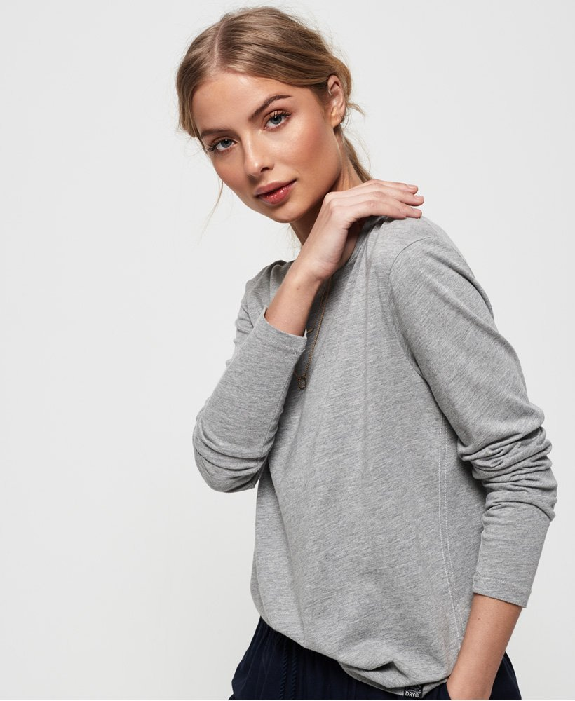 Superdry Premium Modal Long Sleeve Top thumbnail 1