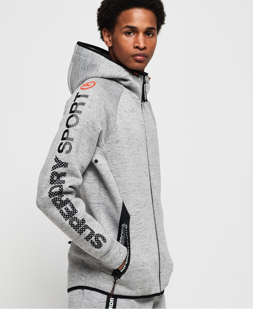 Superdry Sweat à capuche zippé en stretch Gym Tech