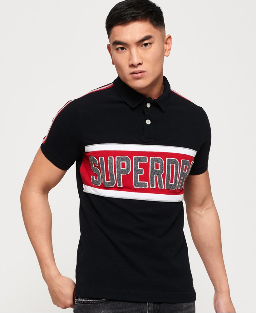 Superdry Retro Sports Applique Polo Shirt thumbnail 1
