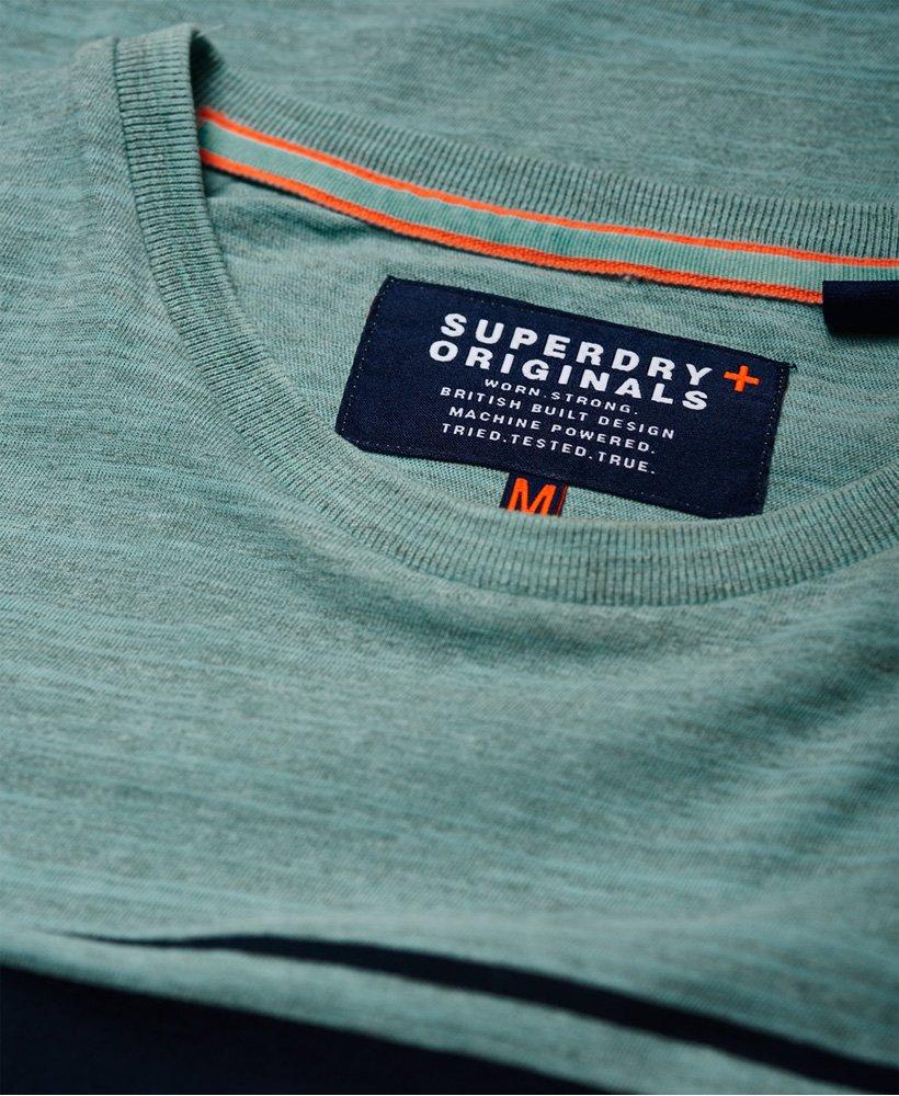 New Mens Superdry Dry Originals Short Sleeve Stripe Pocket T-Shirt Ocean Pastel