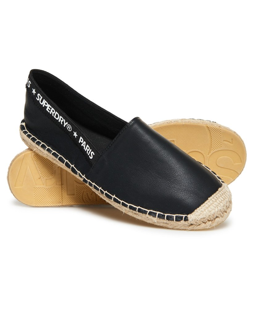 86f328a0f4e Womens - Erin Elastic Espadrilles in Black/white | Superdry