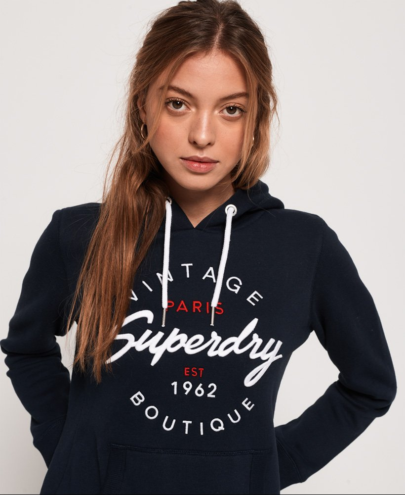 Superdry Felpa con cappuccio infilabile dalla testa Applique
