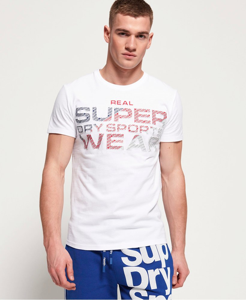 Superdry Embossed Overprint Sport T-Shirt thumbnail 1