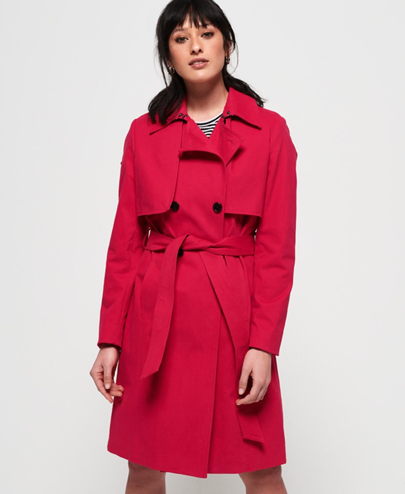Superdry Sirena Trench Coat thumbnail 1