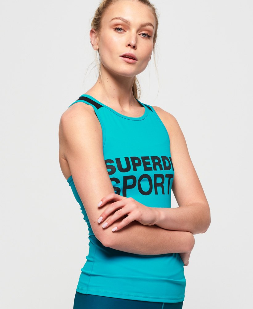 Superdry Active Mesh Panel Vest Top  thumbnail 1