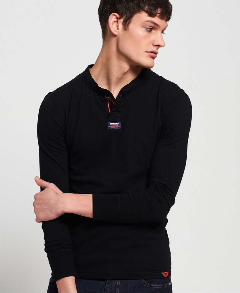 Superdry Homestead Long Sleeve Lite Grandad Top