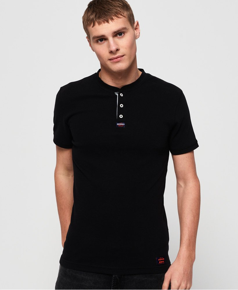 Superdry Heritage Short Sleeve Grandad Top thumbnail 1