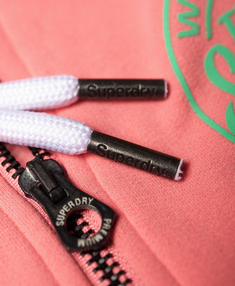 NUOVA linea uomo Superdry TICKET Type skate con cerniera e cappuccio rosa