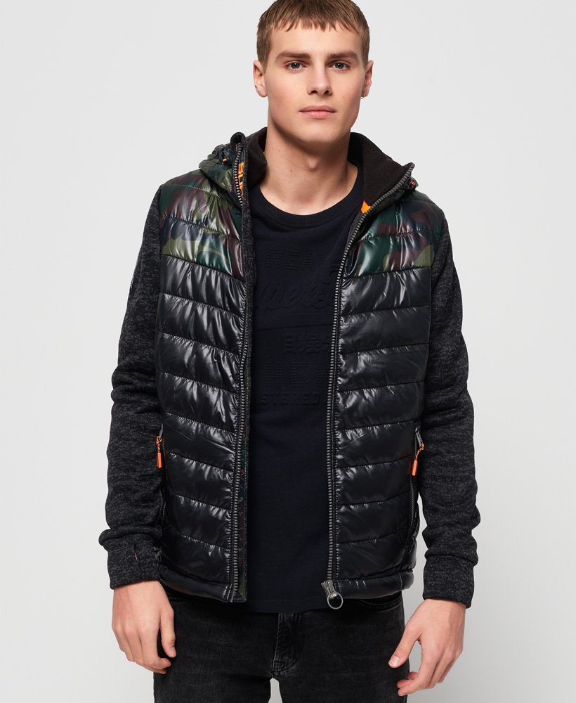 Superdry Storm Hybrid Chevron Colour Block Zip Hoodie thumbnail 1