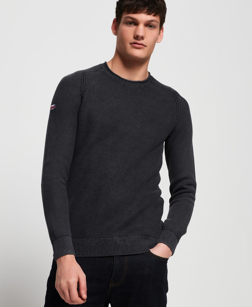 Superdry Garment Dyed L.A Textured Crew Jumper thumbnail 1