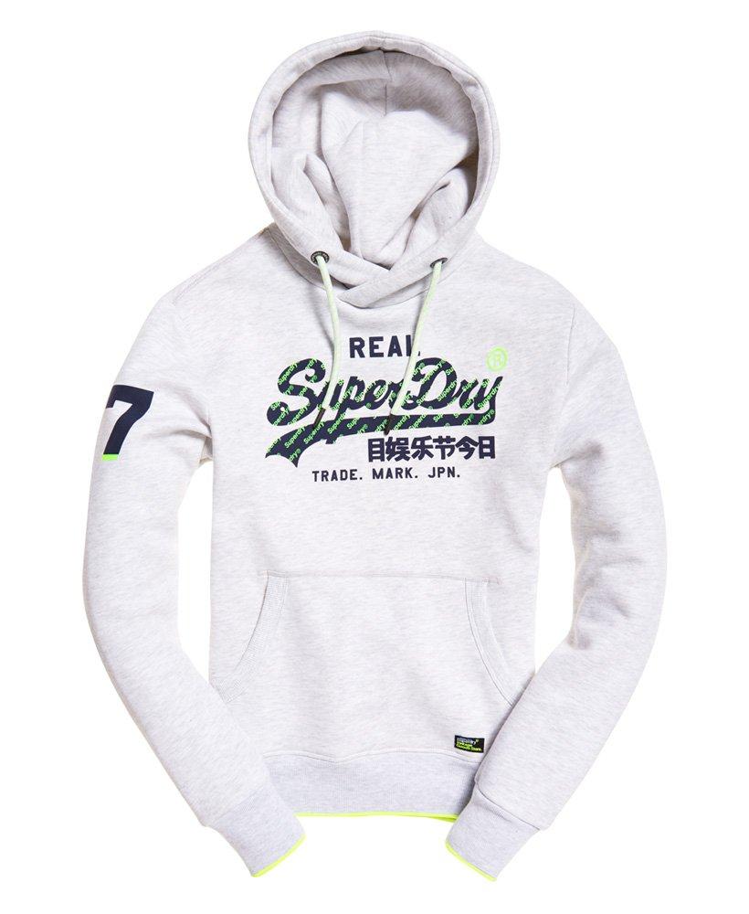 Superdry Herren Vintage Logo Trägerhemd Mit Neonfarbener Einfassung