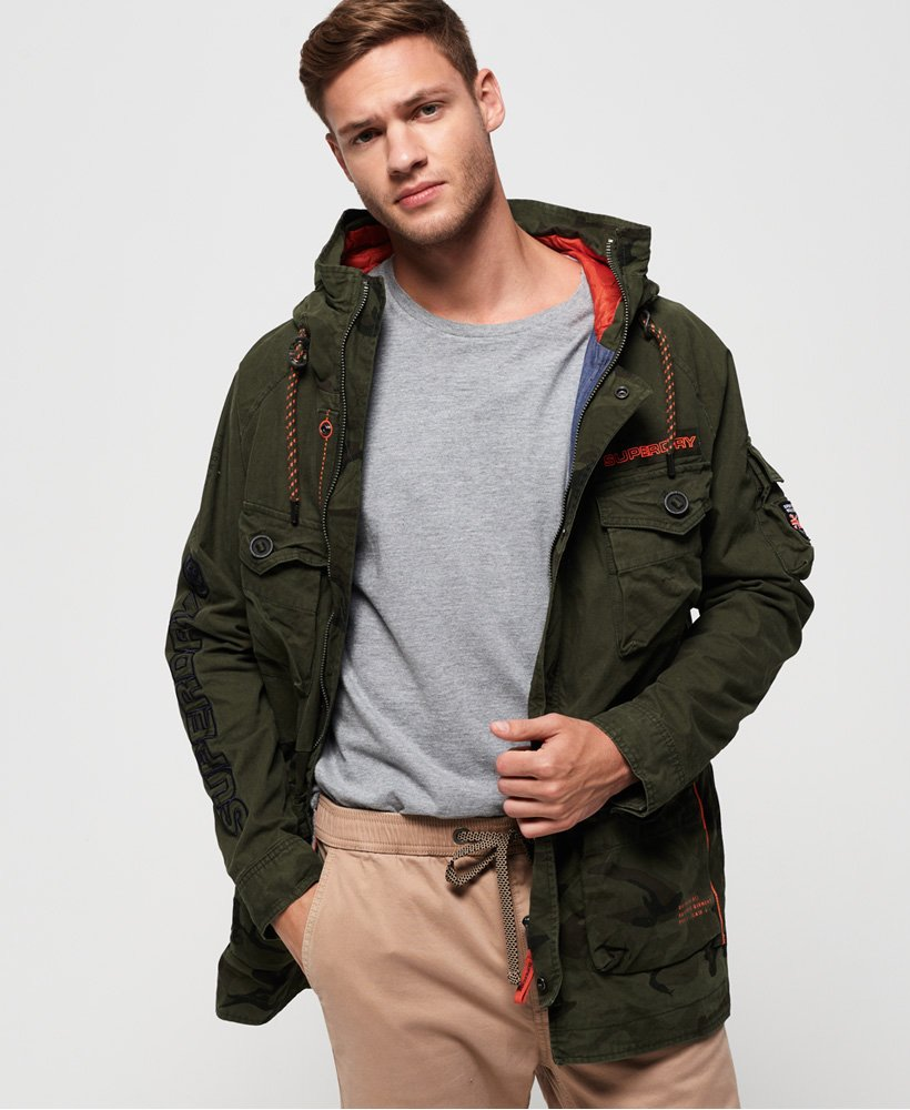 Superdry Mixed Rookie Parka Jacket thumbnail 1