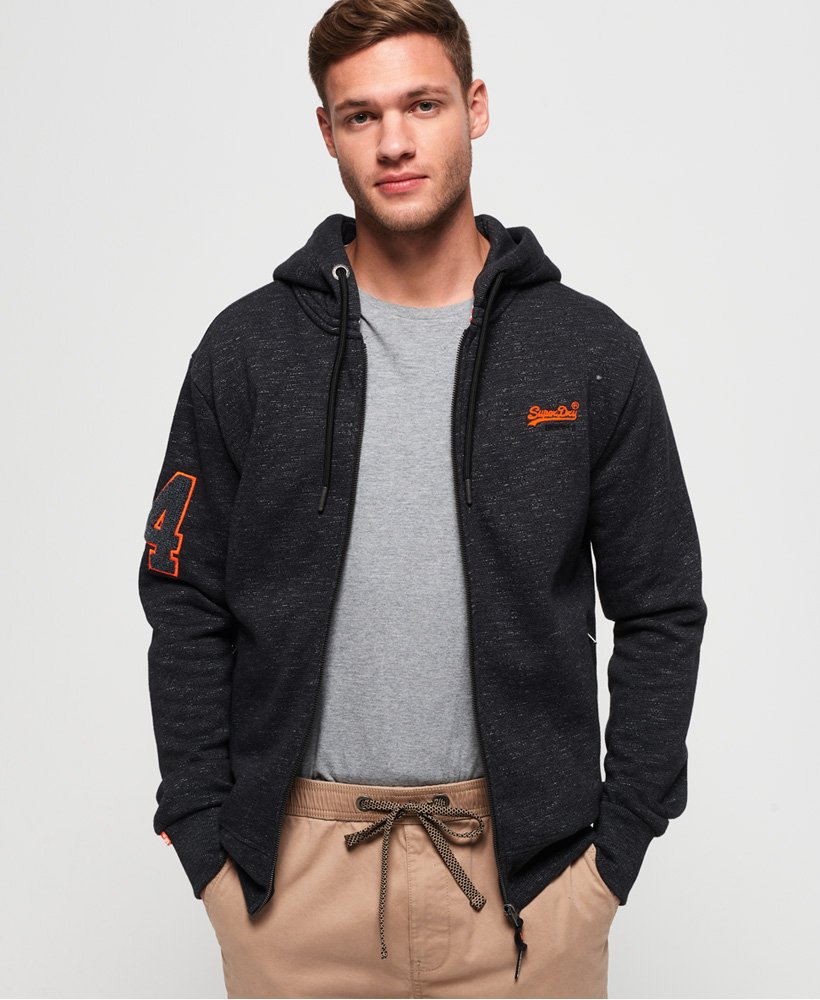 Superdry Orange Label Field hoodie met rits thumbnail 1