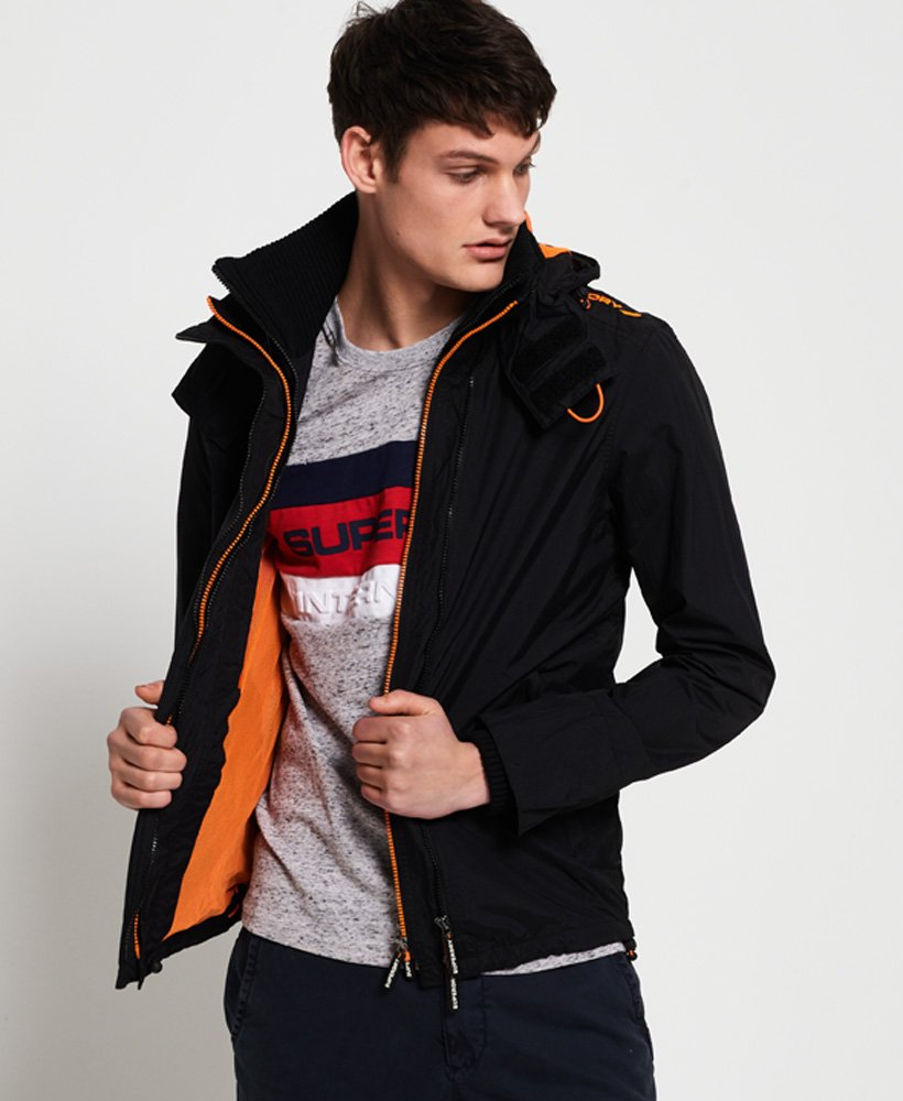 Superdry Hooded Technical Pop Zip SD-Windcheater Jacket thumbnail 1