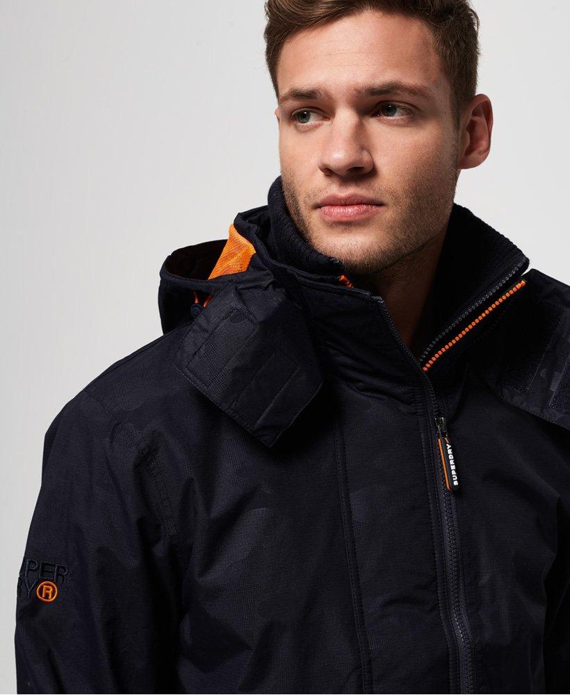 Nouveau Homme à Capuche Superdry Technical Pop Zip SD-Blouson veste bleu mer chiné