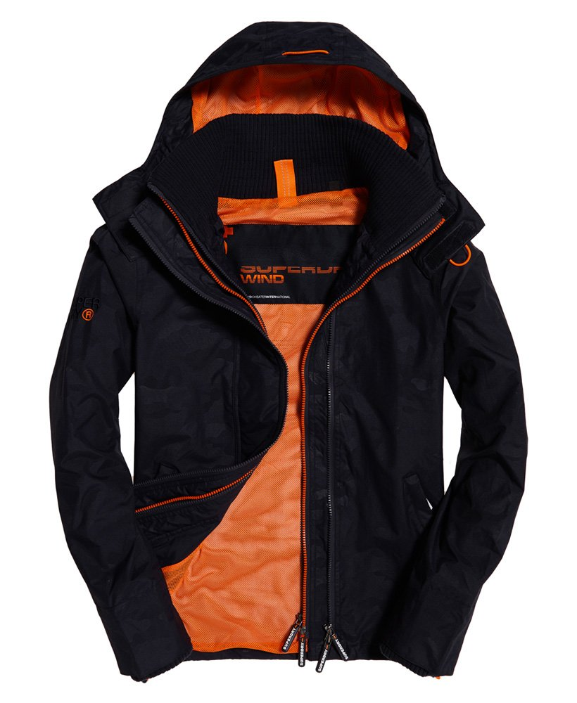 Superdry Hooded Technical Print Pop Zip SD-Windcheater