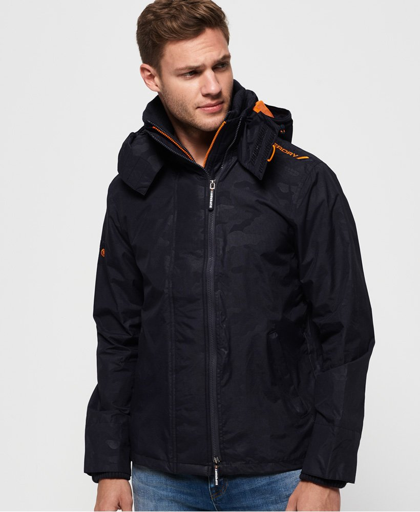 Superdry Technical Print Pop SD-windcheater met capuchon en rits  thumbnail 1