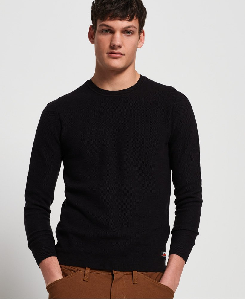 Superdry Supima® Cotton Crew Jumper thumbnail 1