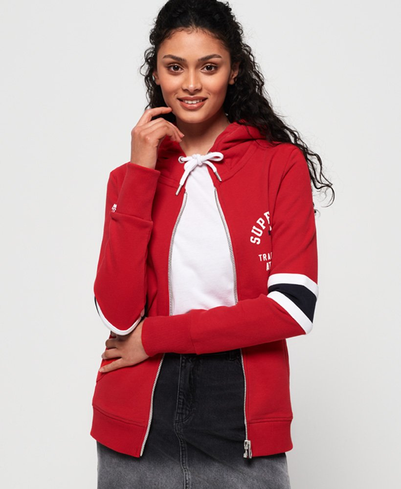 Superdry Track & Field Stripe Zip Hoodie thumbnail 1