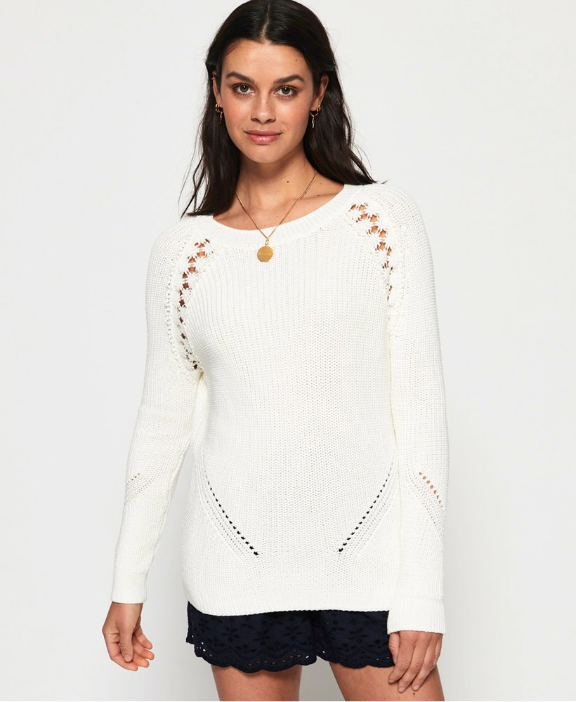 Superdry Bella Lace Ribbed-genser thumbnail 1