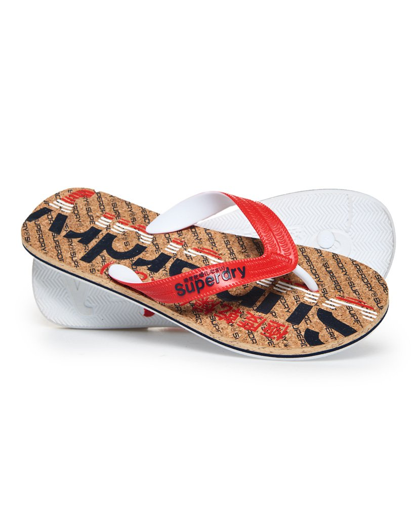 Superdry Chanclas vivas de color corcho