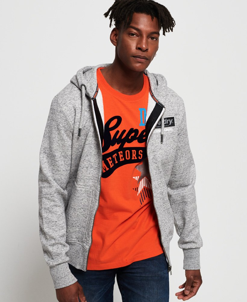 Superdry International Monochrome hoodie met rits thumbnail 1