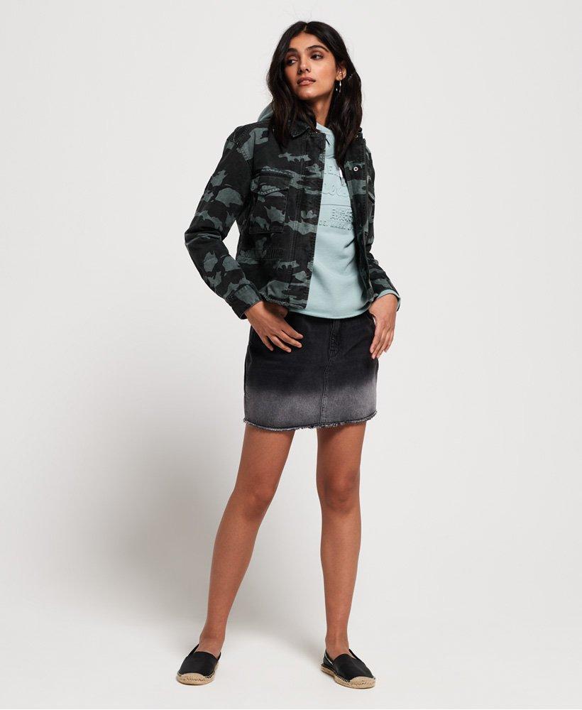 Femme Vestes et manteaux | Superdry Veste courte Riley Rookie Camouflage Mer