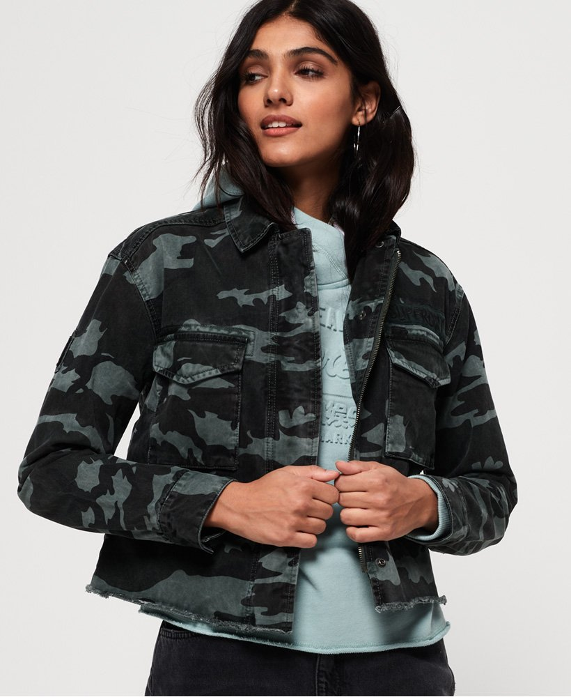 Superdry Riley Cropped Rookie Jacket thumbnail 1