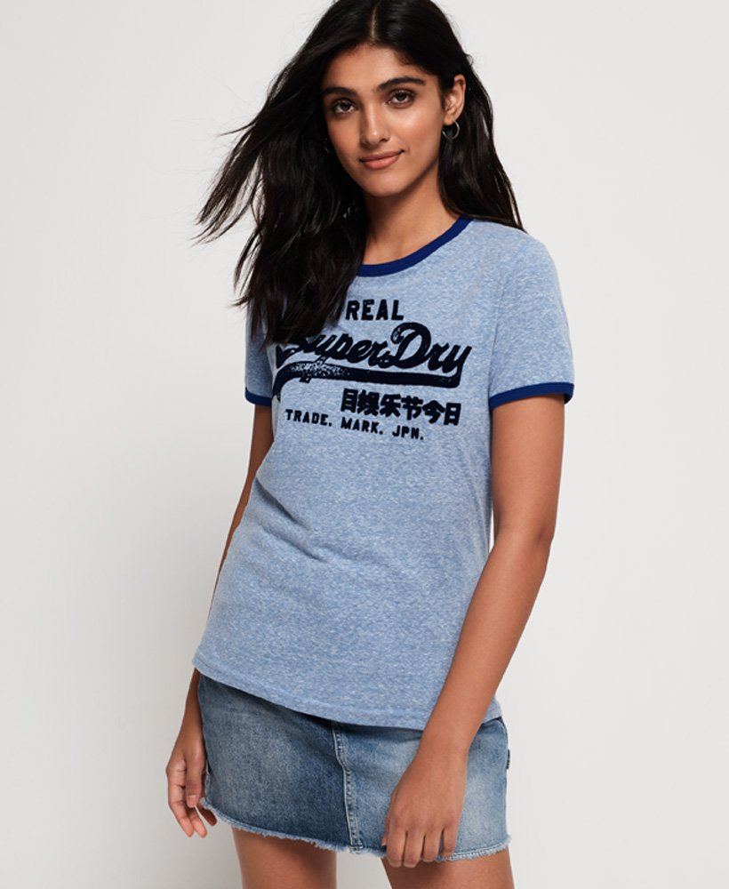 Superdry Vintage Logo Retro Ringer T-Shirt  thumbnail 1