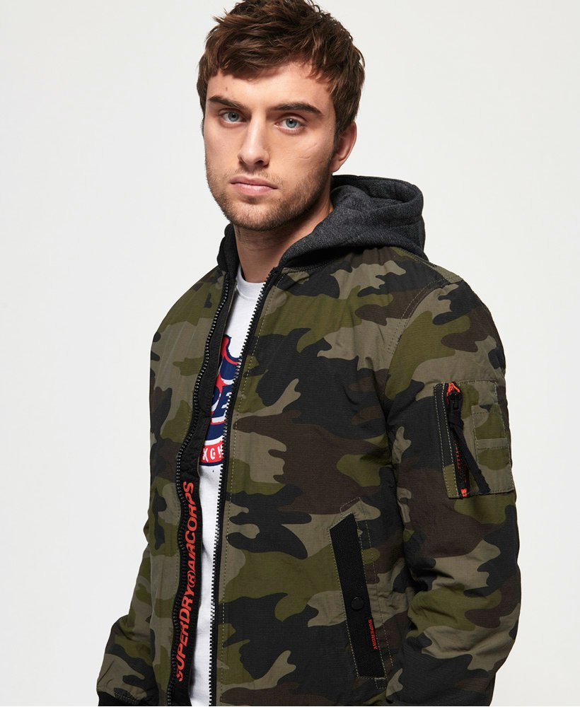 Superdry Hooded Air Corps Bomber Jacket thumbnail 1