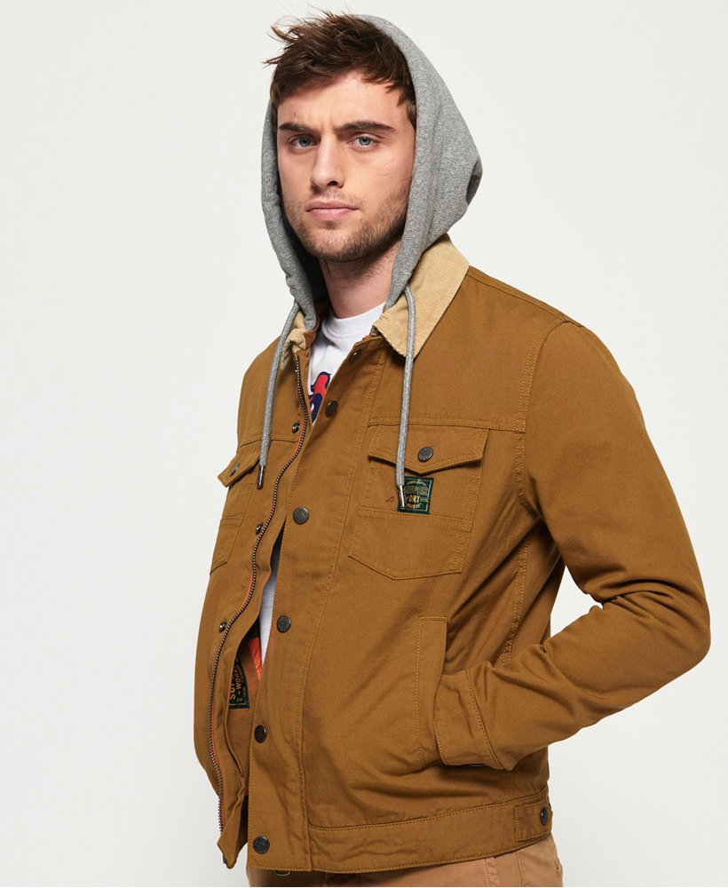 Superdry Hacienda Canvas-Truckerjacke mit Kapuze thumbnail 1