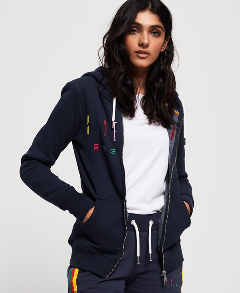 Superdry Carly Carnival Embroidered Zip Hoodie  thumbnail 1