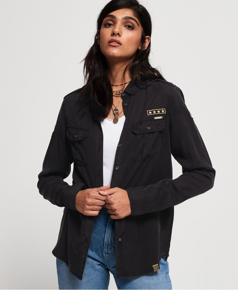 Superdry Ramona Military Shirt thumbnail 1