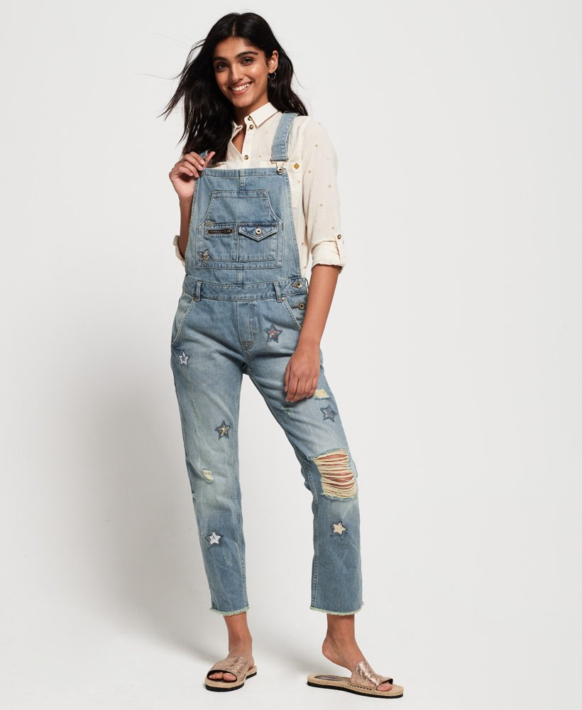 Superdry Jodie Boyfriend Dungarees thumbnail 1