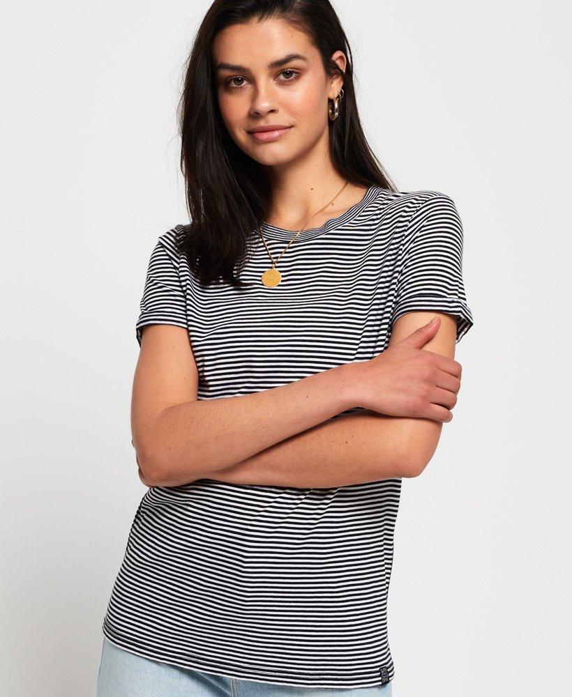 Superdry Premium Modal-T-skjorte med rund hals  thumbnail 1