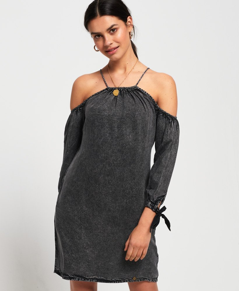 Superdry Eden Cold Shoulder Dress thumbnail 1