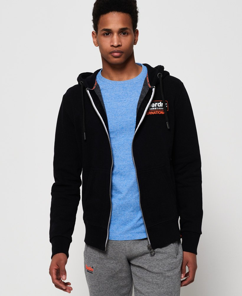 Superdry International Monochrome-hettegenser med glidelås thumbnail 1