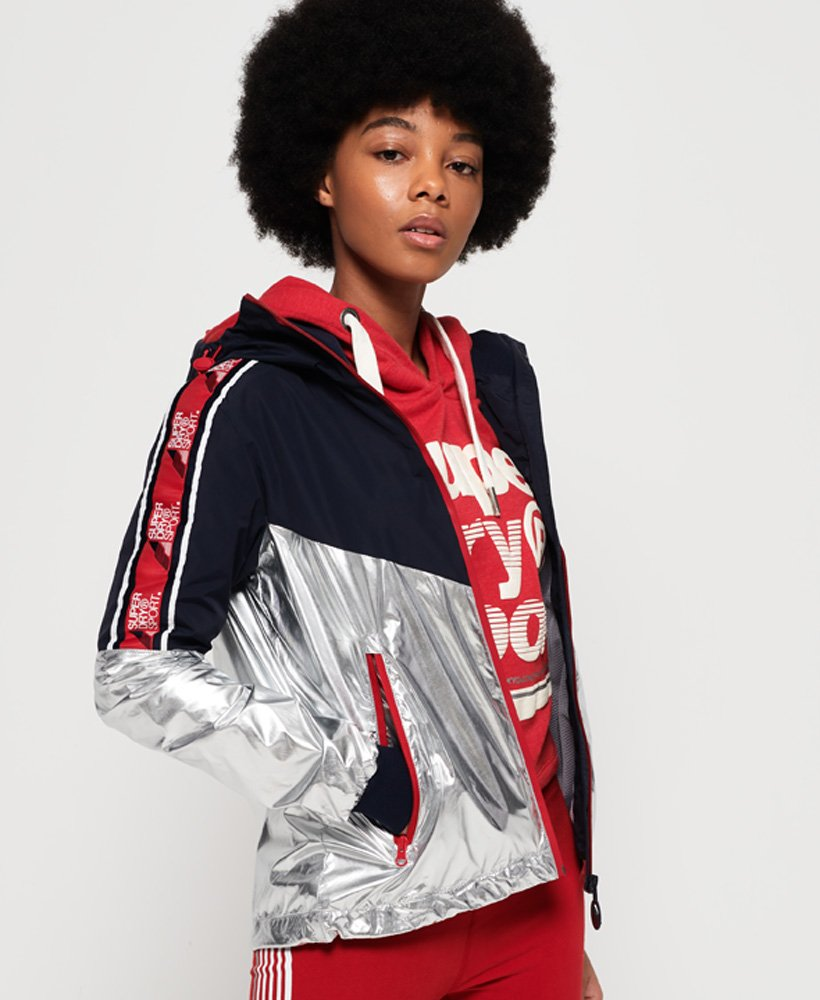 Superdry Sport Stripe Chrome Cagoule  thumbnail 1