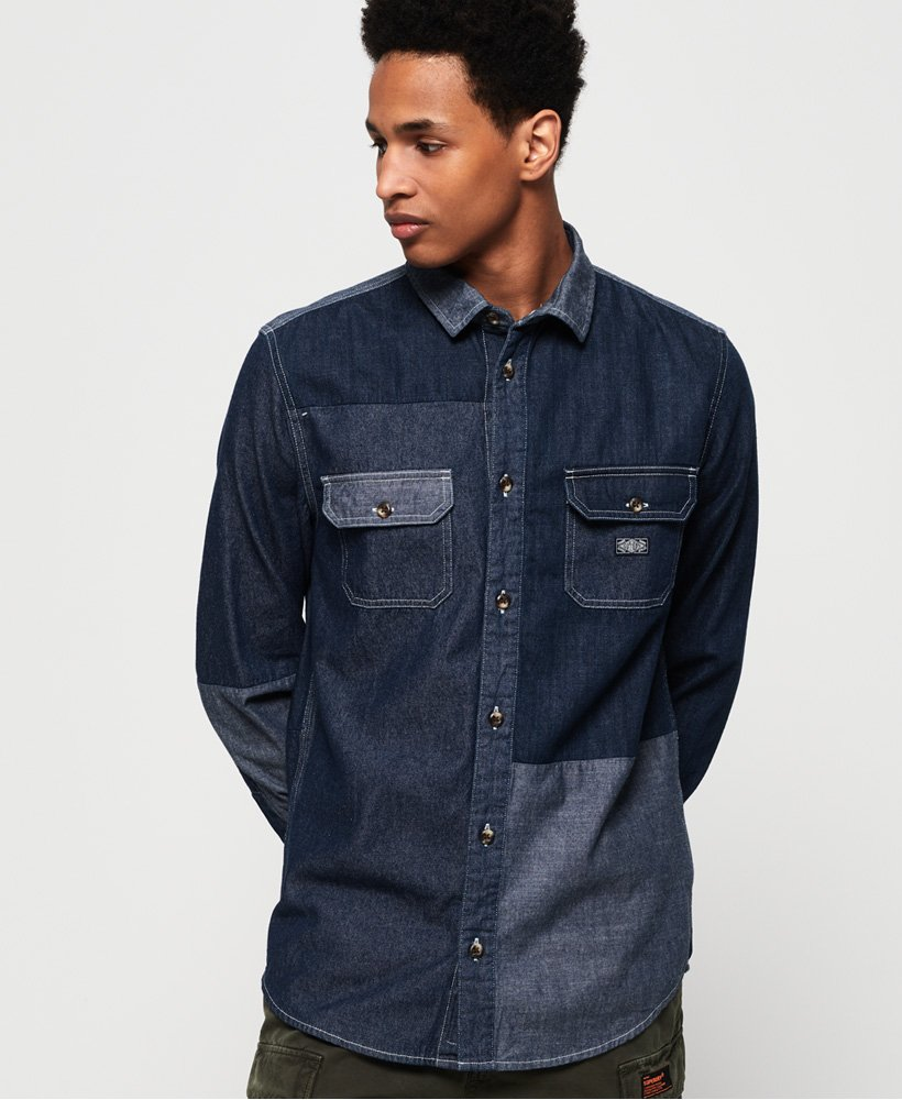 Superdry Worker Long Sleeve Shirt  thumbnail 1