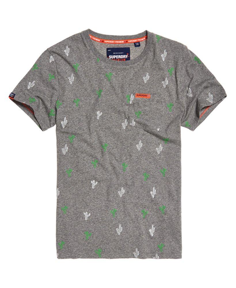 Superdry Leichtes Kurzarm T Shirt mit durchgehendem Print