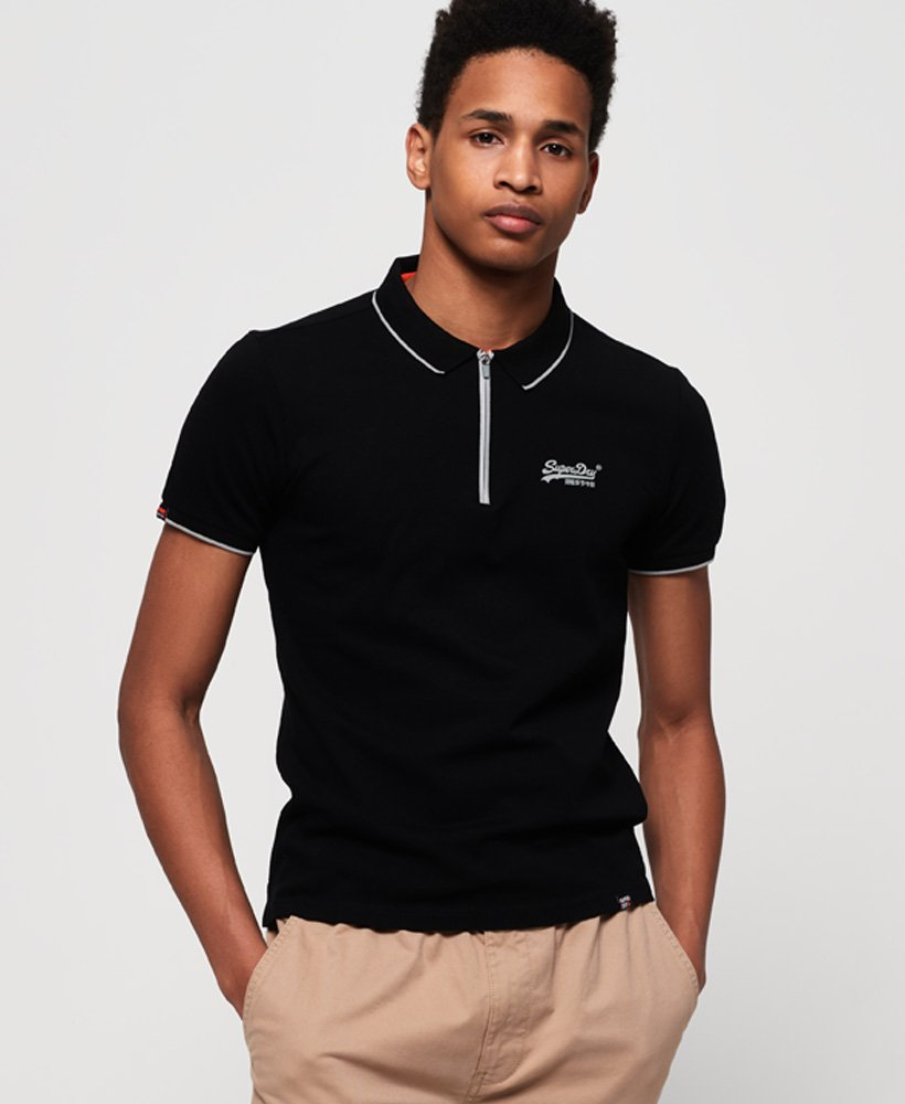 Superdry City Sport Zip Polo Shirt thumbnail 1