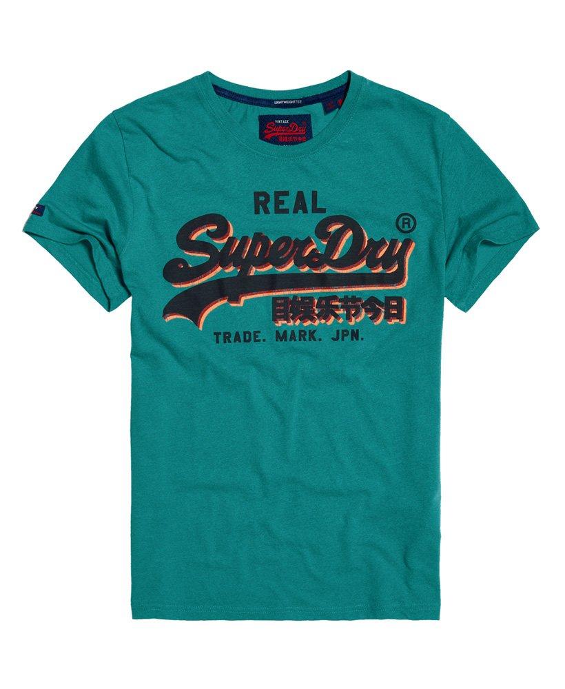 Superdry T-shirt léger à empiècement et logo vintage