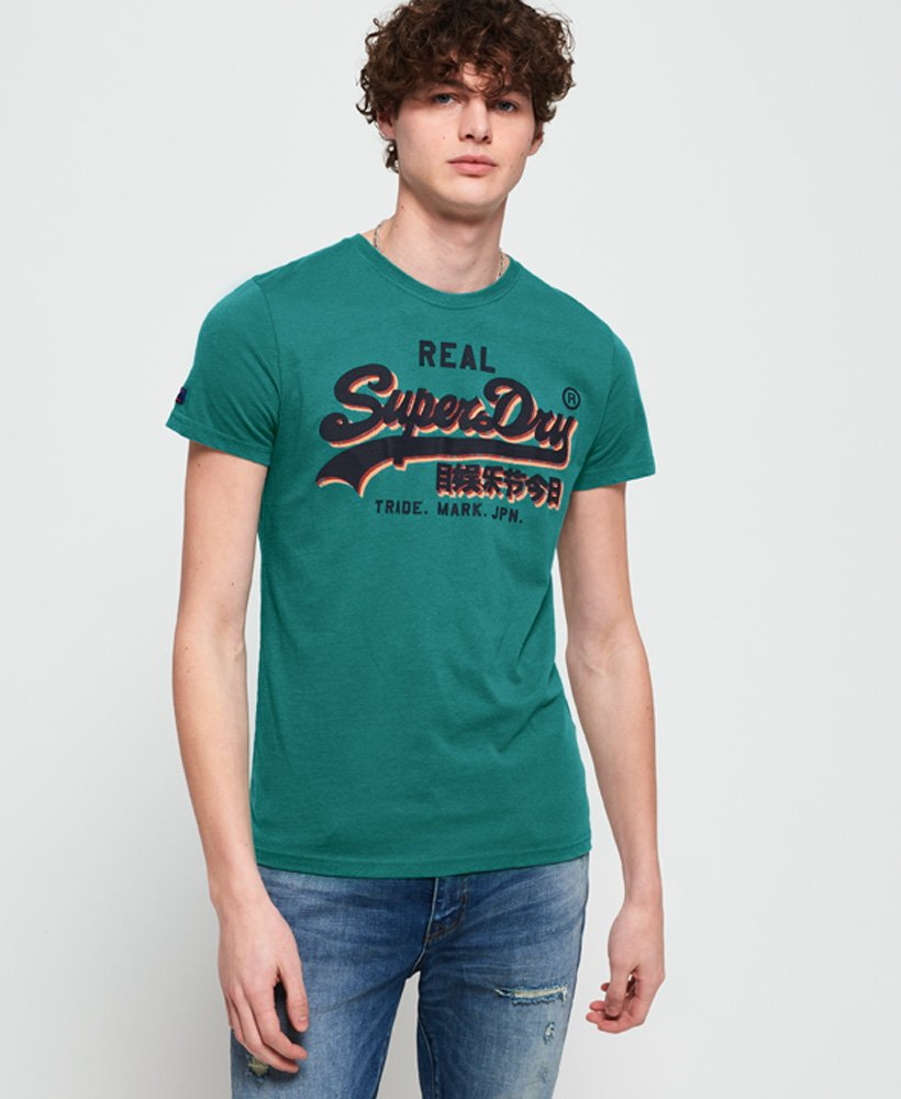 superdry leichtes vintage logo t shirt mit einsatz. Black Bedroom Furniture Sets. Home Design Ideas