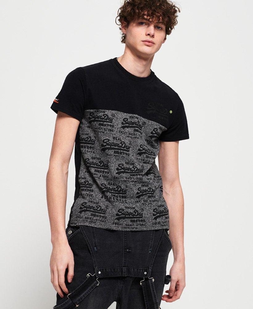 Superdry T-shirt à empiècement et logo vintage fluo thumbnail 1