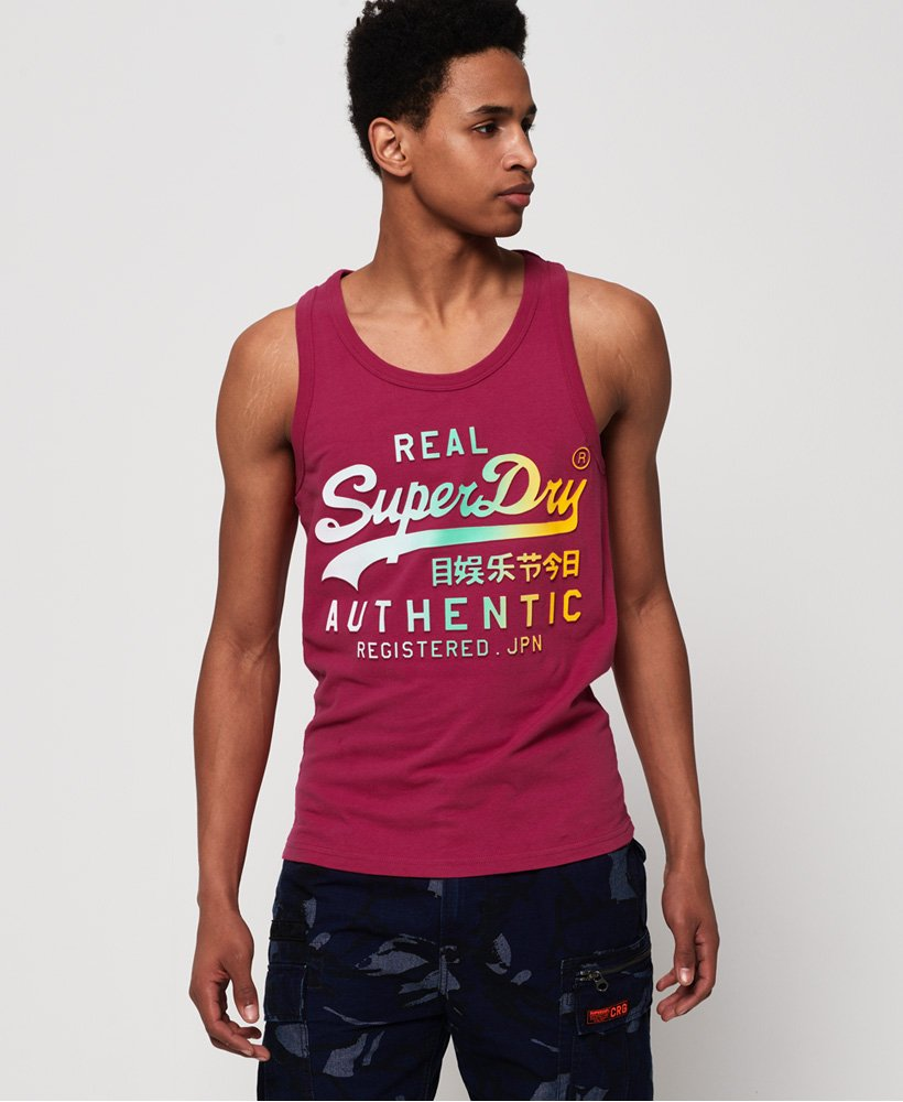Superdry Vintage Logo Authentic Fade Mid Weight Vest Top